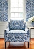 Thibaut Earl Damask Wallpaper in Charcoal